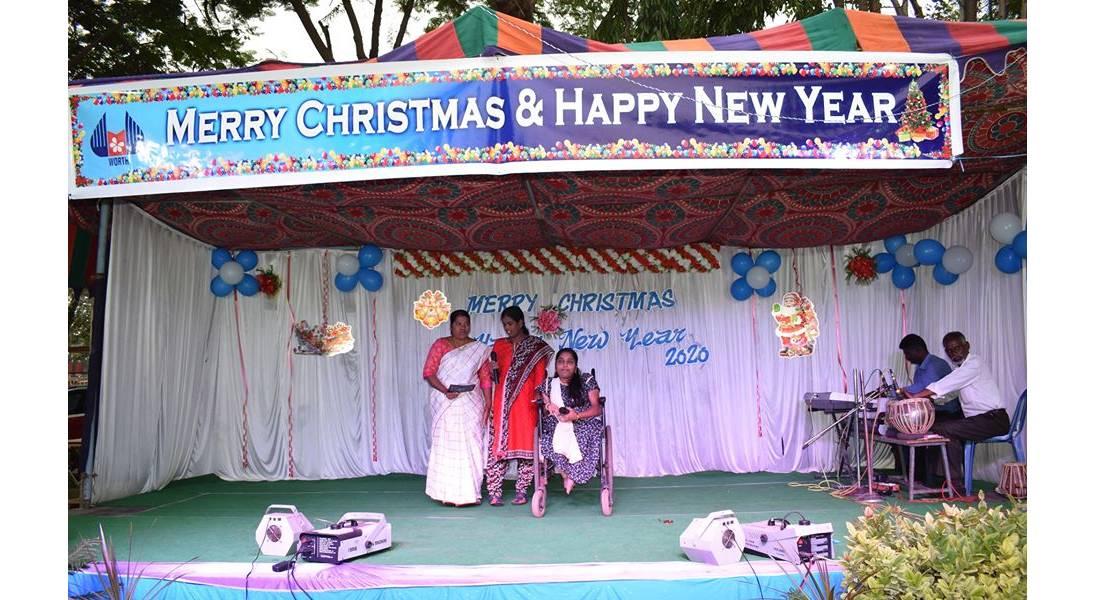 christmas celebration group singing