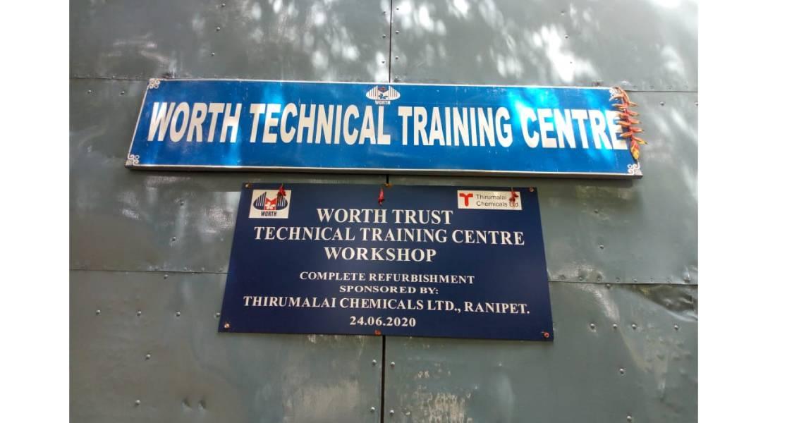 worth technical training centre workshop