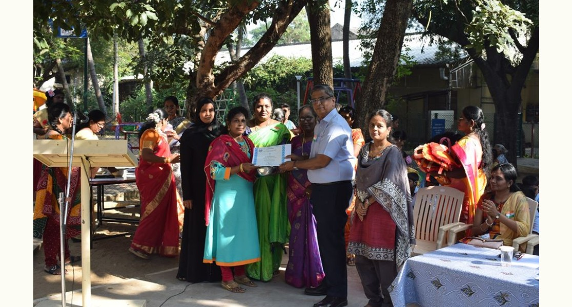 Certificates awarded to the people at trust during the Republic Day celebration