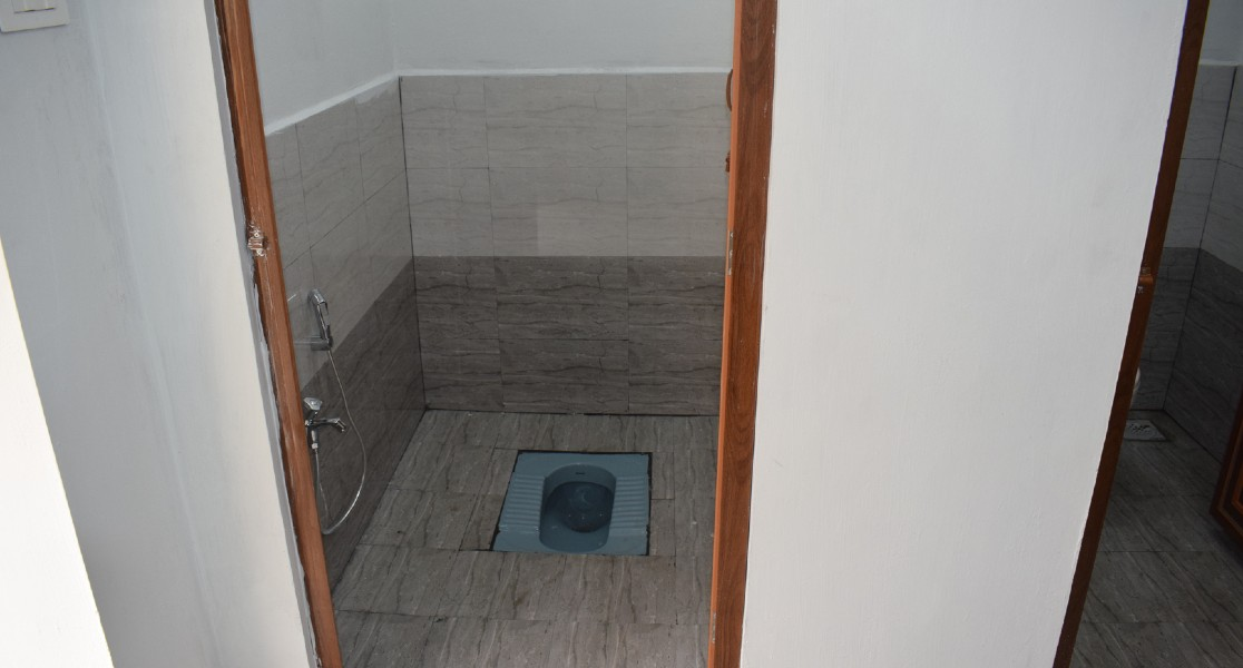 View of the new toilet