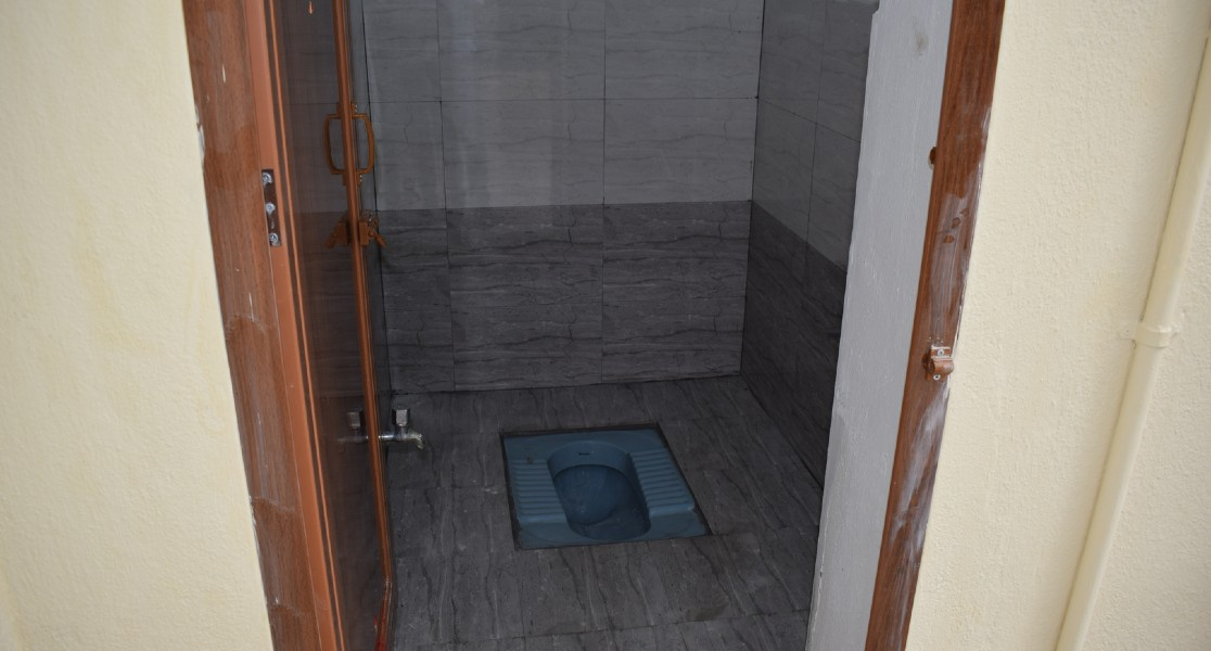 View of another Indian type toilet